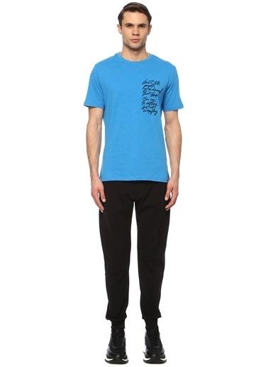 NetWork Erkek 1074399 Slim Fit Baskılı T-shirt Mavi